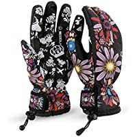 Guantes Esquí Impermeable Guantes Nieve Snowboard Ciclismo Invierno Mujer
