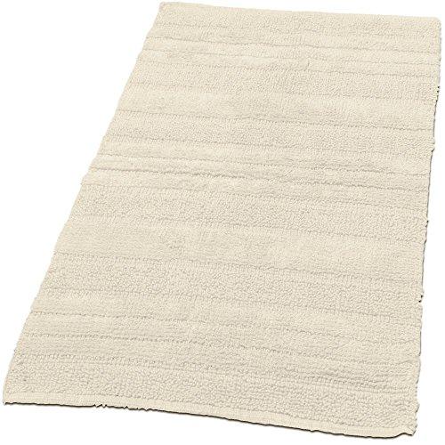 Paco Home Badematten Badezimmermatte Badteppiche Baumwolle in Uni versch. Farben u. Größen, Farbe:Ivory (Creme), Grösse:70x110 cm