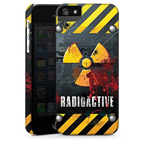 Apple iPhone X Silikon Hülle Case Schutzhülle Radioactive Blut Atom Premium Case StandUp