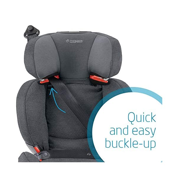 Maxi Cosi RodiFix AirProtect Child Car Seat, ISOFIX Booster Seat, Extra Protection, 3.5-12 Years, 15-36 kg, Sparkling Grey Maxi-Cosi Booster car seat for children from 15 to 36 kg (3,5 to 12 years) Grows along with your child thanks to the easy headrest and backrest adjustment from the top Patented AirProtect technology for extra protection of child's head 5
