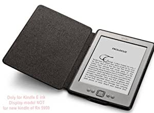 Elite Leather Case Cover for Amazon Kindle 6 E-Ink Tab (Black)