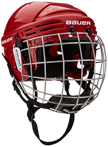 BAUER - Kinder Eishockey Helm Combo mit Gitter 2100 I verstellbare Helmschale für Kindereishockey I Schutzgitter & Kinnschutz integriert I robust & stabil I Eishockeyzubehör für Kinder
