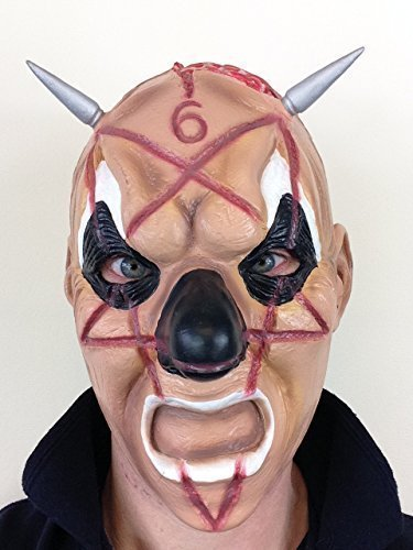 Heavy Kostüm Metal (Slipknot Clown Latex Maske Shawn Heavy Metal Band Unterschwellige Kostüm)