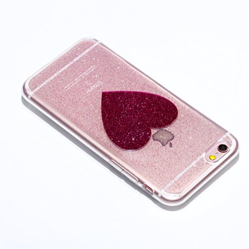 Custodia iPhone 6, iPhone 6S Cover Silicone Trasparente, SainCat Cover per iPhone 6/6S Custodia Silicone Morbido, Shock-Absorption Custodia Ultra Slim Transparent Silicone Case Ultra Sottile Morbida G Amare