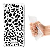 WoowCase Wiko Selfy 4G Hülle, Handyhülle Silikon für [ Wiko Selfy 4G ] Dalmatinisches Muster Handytasche Handy Cover Case Schutzhülle Flexible TPU - Transparent