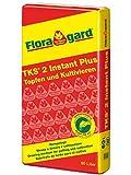 Floragard TKS 2 60 L • mittelgrob strukturiertes Kultursubstrat aus dem Gartenbau • für Zierpflanzen und Gemüse • zum Topfen und Umtopfen • auch geeignet für Schalen und Kübel