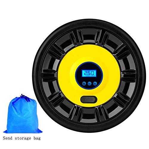 Preisvergleich Produktbild TWNHMJ Auto luftpumpe Reifenfüller Tragbare Luftkompressor LED-Licht Digital Manometer 3 luftdüse Adapter 60 S schnelle Inflation Automatische Stop für Auto Bike Motorrad Inflatables, digitaldisplay