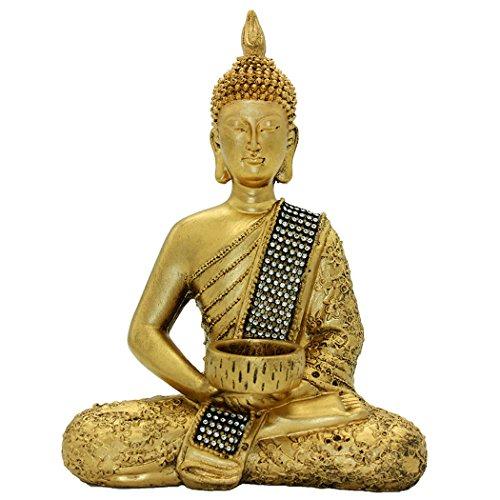 Thailand Buddha-statue (Dusky Seaside Sparrow 26cm (H) Buddha Statue von Thailand sitzen Buddha Ornaments Kunsthandwerk Home Dekorationen BS115)