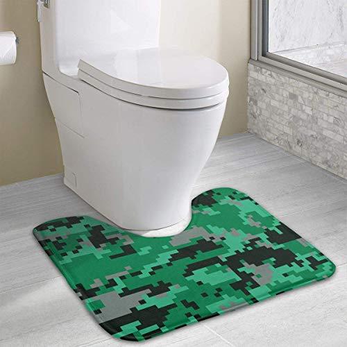 Hoklcvd Green Camo U-förmiger WC-Teppich Rutschfester Badteppich -