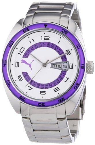 Puma Time Course Metal- S Silver Purple PU102522004 - Orologio da polso da donna, cinturino in acciaio inox colore argento