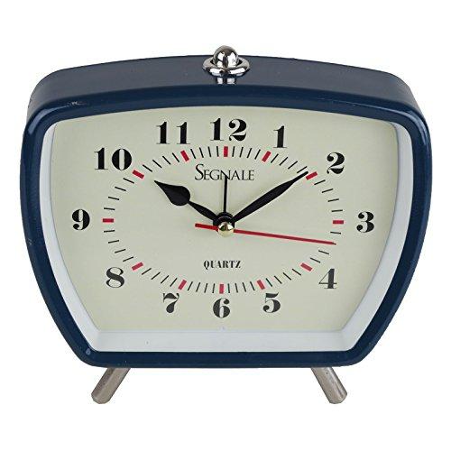 Wecker Farbe wählbar Quarzwecker retro nostalgie batteriebetrieben Uhrenwecker, Farbe:blau