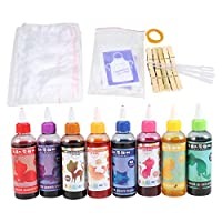 8-Color Tie-Dye Party Kit, Ideal for Fashion DIY Projects and Party Activities, 8 Bottles