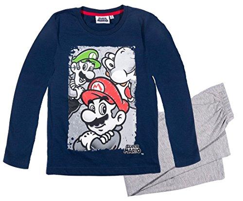 Mario Bros -  Pigiama due pezzi  - ragazzo blu 10 Anni