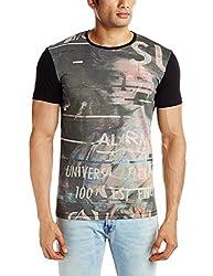 United Colors of Benetton Mens T-Shirt (8903975027411_15A3096J8028I100M_Medium_Black)
