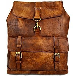 Leder rucksack gewaschen leder rucksack damen herren reisetasche kalbsleder rucksack vintage dunkel braun rucsack schulrucksack sporttasche