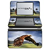 Vögel 038, Falke, Design folie Sticker Skin Aufkleber Schutzfolie mit Farbenfrohe Design für Nintendo DSi XL Designfolie