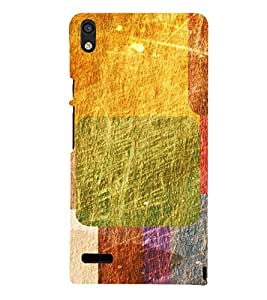Multicolour Abstract Pattern 3D Hard Polycarbonate Designer Back Case Cover for Huawei Ascend P6