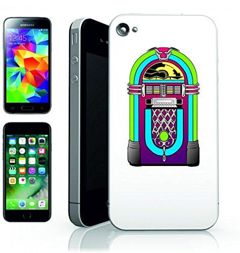 Smartphone Case Jukebox di musica della musica multimediale Multi Media Player della pietra d annata retro attrezzature di intrattenimento per Apple Iphone 4/4S, 5/5S, 5C, 6/6S, 7& Samsung Galaxy