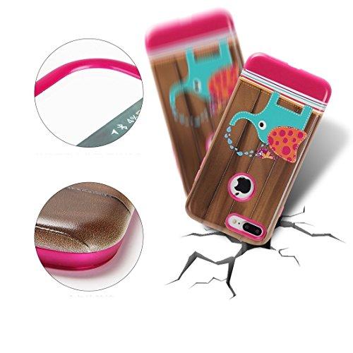 Hülle für iPhone 7 plus , Schutzhülle Für iPhone 7 Plus TPU + PC Relief Kombination Fall ,hülle für iPhone 7 plus , case for iphone 7 plus ( SKU : Ip7p1232f ) Ip7p1232g