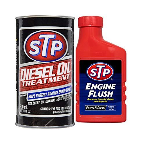 STP Diesel Oil Treatment 300 ml & STP Engine Flush 450 ml