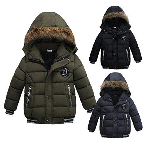 Babykleidung,Sannysis Kinder Mantel Jungen Mädchen Dick Jacke Gepolsterte Winterjacke Kleidung 2-5Jahre 3