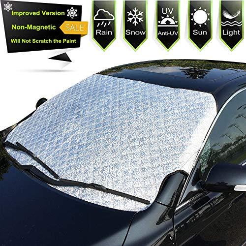 Frontscheibenabdeckung, Windschutzscheibe Abdeckung Faltbare Autoscheibenabdeckung Sonnenschutz Schneeschutz für Scheibenwischer UV-Anti,Gegen Schnee,EIS,Frost,Staub,Sonne Autoscheibenabdeckung