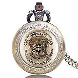 Reloj de Bolsillo para Hombre, Harry Potter, Reloj de Bolsillo de Cuarzo con Cadena, Hombres