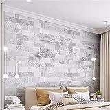 HONGYAUNZHANG Einfache Weiße Wandfliesen Benutzerdefinierte Fototapete 3D Stereoskopischen Wandbild Wohnzimmer Schlafzimmer Sofa Hintergrund Wandmalereien,320Cm (H) X 400Cm (W)