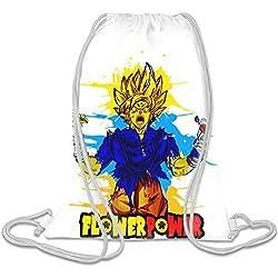 Super Hero Flower Power Personalizado Impreso Bolsa Con Cordón Saco