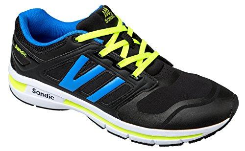 GIBRA® Sportschuhe, schwarz/blau/neongelb, Gr. 41-46 schwarz/blau/neongelb