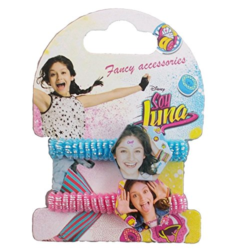 Cartoon Set de 2 elasticas para el Pelo Soy Luna Disney WDSL028TURCHESE