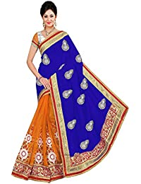 Winza Women's Georgette Half And Half Saree With Blouse