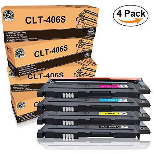 Fituwork CLT-406S 406S Kompatibler Ersatz Tonerpatrone für Samsung CLP-360 CLP-365 CLP-365W CLP-360N CLP-365W CLX-3300 CLX-3305 CLX-3305FN CLX-3305FW CLX-3305N CLX-3305W Xpress C410W SL-C460FW (4Pack) - High-yield-combo