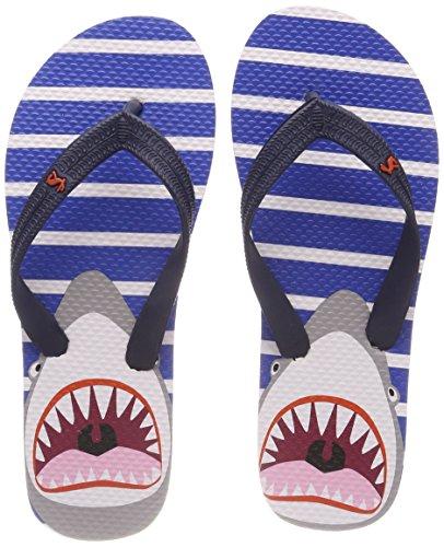 Tom Joule Jungen Y_JNRFLIPFLB Zehentrenner, Blau (Blue Shark Stripe), 34 EU