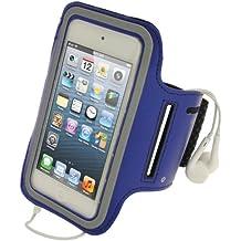 iGadgitz - Brazalete antidezliante deportivo para iPod Touch de 5ª y 6ª generación, color azul
