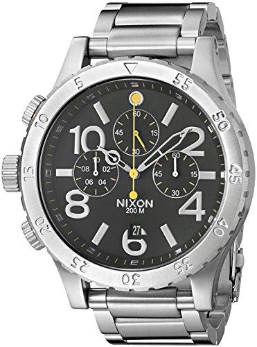 nixon-a486000-00-reloj-unisex-de-acero-inoxidable-negro