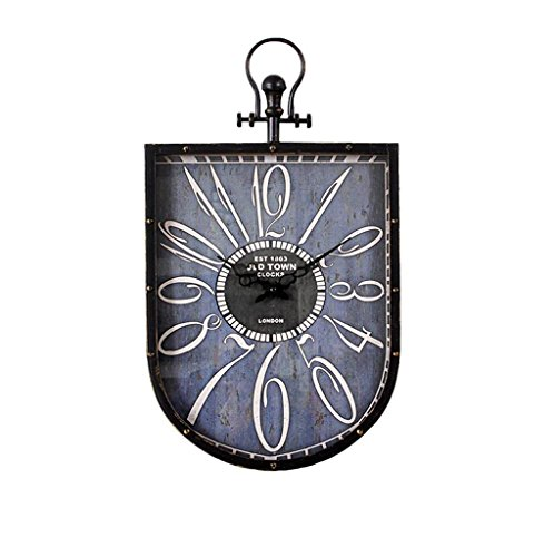 COCO Europäischen Stil Retro Do alten Eisen Uhren und Uhren Wohnzimmer Cafe Bar Dekorationen American Style Stil Mute Wanduhr HOME (Uhr Alten Stil)