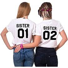 Mejores Amigas Camiseta Best Friend T-Shirt 2 Piezas 100% Algodón Impresión Sister 01