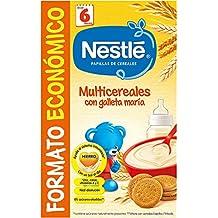 Nestlé - Multicereales con galleta María - Papilla de cereales instantánea de fácil ...