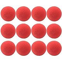 elastisches Band rote Nasen zum Kostüm Zubehör NEU 6 Clownsnasen inkl
