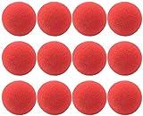 com-four® 12 Clownsnasen aus Schaumstoff in Rot, Größe: 5 cm, für Fasching, Karneval oder andere Mottopartys (12 Stück)