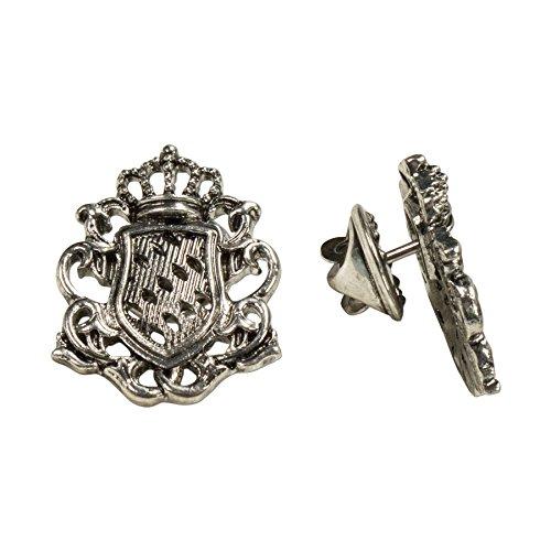 Alpenflüstern Ansteck-Pins Wappen 2er-Set Antik-Silber-Farben API082