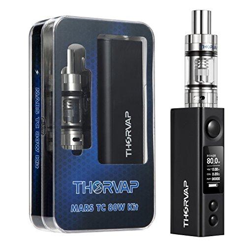 THORVAP® 80W TC BOX MOD Sigarette Elettroniche, Schermo OLED HD, Atomizzatore Top Riempimento, Sub oHm Resistenza (0,2oHm), No 18650 Batteria, NO Liquido, No Nicotina