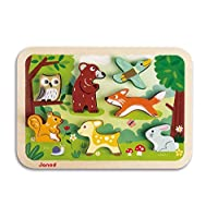 Janod J07023 Wooden Chuncky Puzzle 7 pieces, Forest