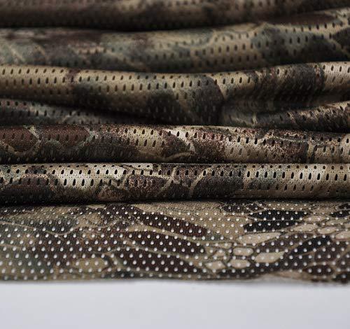 "Camuflaje red de camuflaje para ejército militar 60 ""W gamuza de tejido de malla (Highlander)"