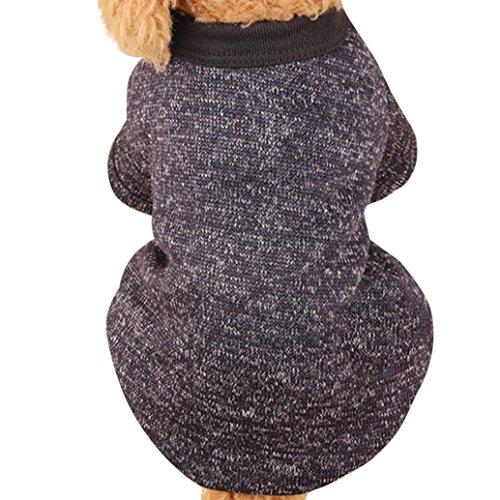 Hunpta Haustier Hund Puppy Pullover Fleece Pullover Kleidung Warm Pullover (XXL, Schwarz) (Kleidung Schwarzer Hund)