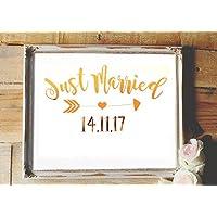 Poster Gold, Silber o. Kupfer Hochzeitsgeschenk / Hochzeitsdekoration personalisiert