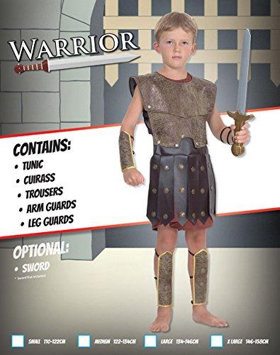 Imagen de disfraz de niño de soldado guerrero romano. 6  9 años alternativa