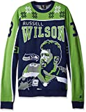 KLEW NFL Seattle Seahawks Wilson R. #3 2015 Player Ugly Sweater, Large, Green