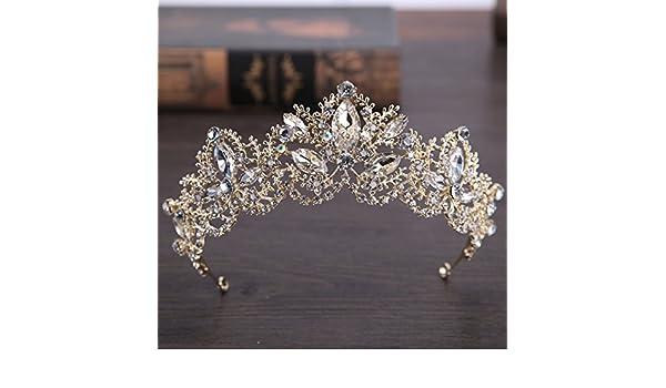XPY DGX Accessori Per Capelli Da Sposa E Da Sposa Le ragazze di corona  ragazza con fascia di acconciatura di capelli hoop baby princess ornamenti  per ... c6209c517d66